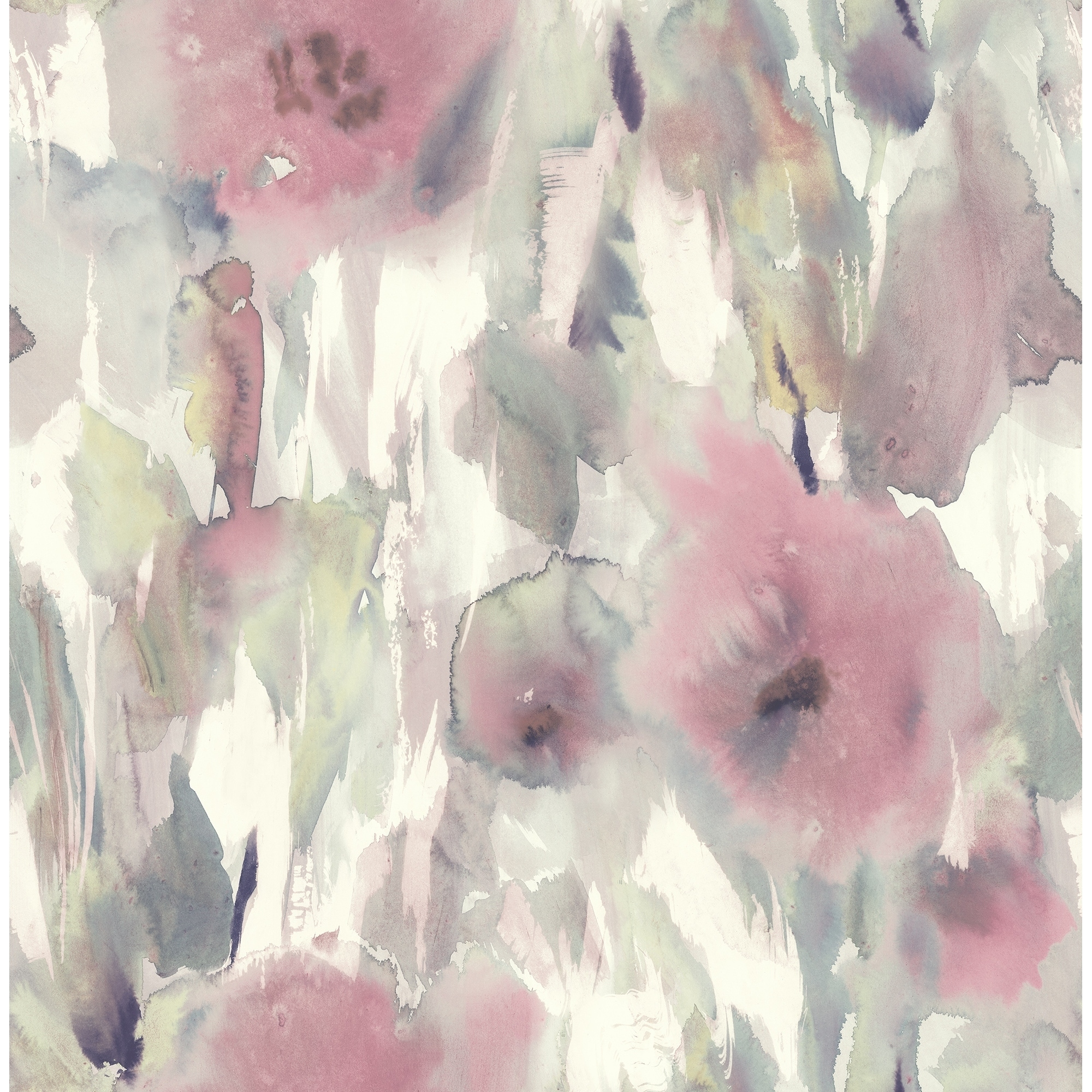 Shop Satin Watercolor Floral Wallpaper 32 81 Feet Long X 20 5