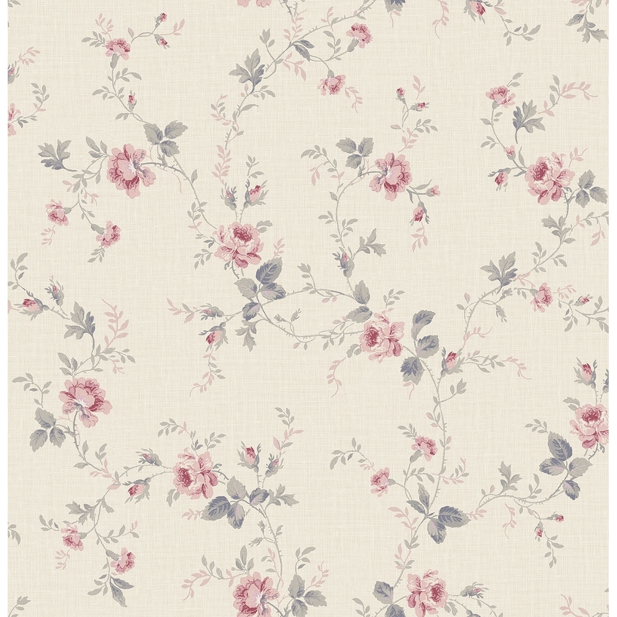 Shop Satin All Over Floral Wallpaper 32 81 Feet Long X 20 5 Inchs