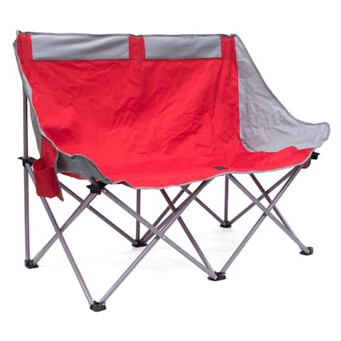 Creative Outdoor 2 Person Moon Bench, Red