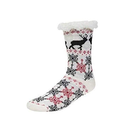 Super Premium Lined Slipper Socks with Non-Skids