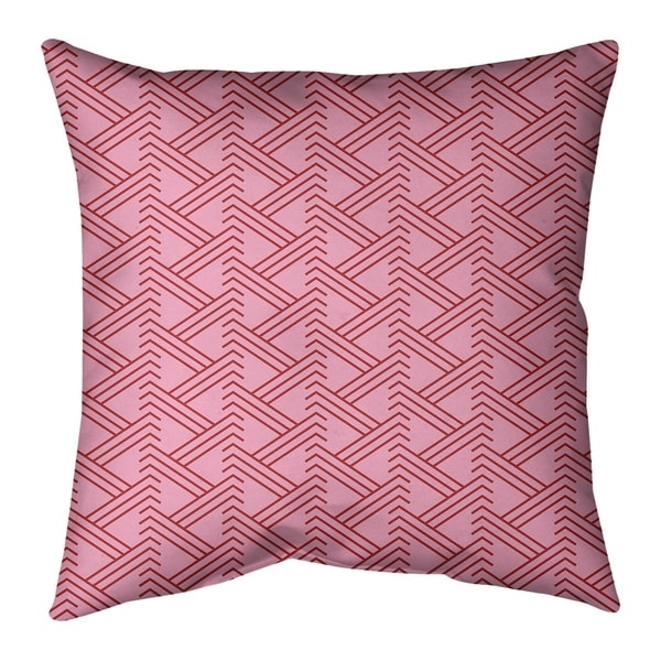 Festive Festive Zig Zag Pattern Pillow (w/Rmv Insert)-Spun Poly