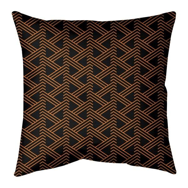 Festive Festive Zig Zag Pattern Pillow-Faux Linen
