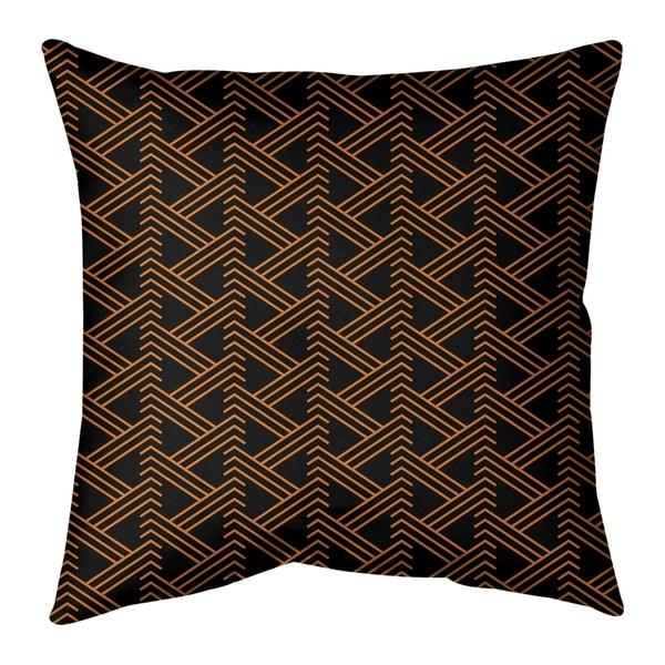 Festive Festive Zig Zag Pattern Pillow-Spun Polyester