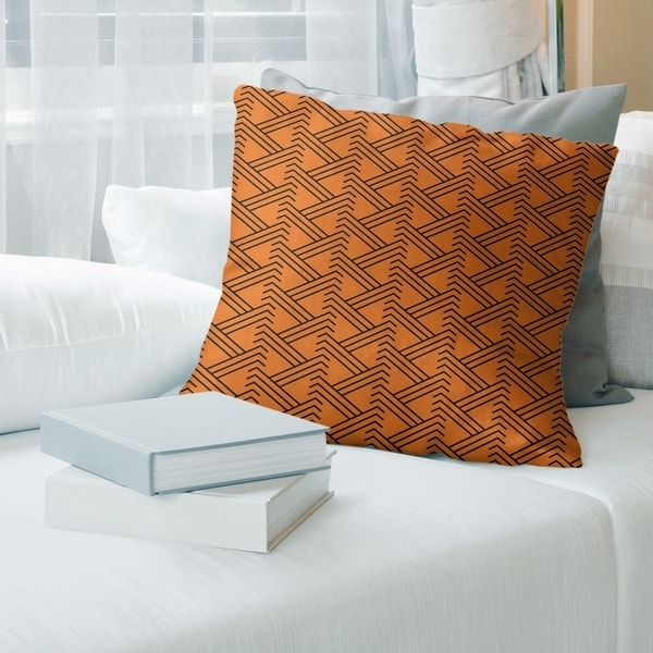 The Curated Nomad Saginaw Festive Zigzag Pattern Faux Linen Pillow