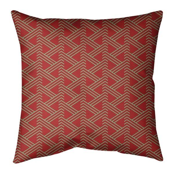 Festive Festive Zig Zag Pattern Pillow (Indoor/Outdoor)