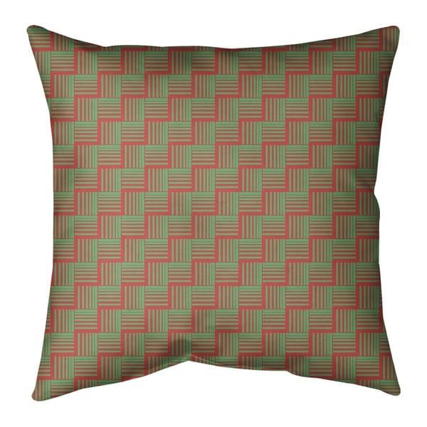 Festive Festive Basketweave Pattern Pillow-Faux Suede