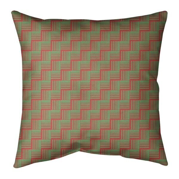 Festive Festive Basketweave Pattern Pillow (Indoor/Outdoor)
