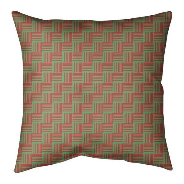 Festive Festive Basketweave Pattern Floor Pillow - Standard