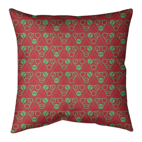 Festive Festive Circles & Waves Pattern Floor Pillow - Standard