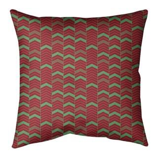 Festive Festive Lined Chevron Pattern Floor Pillow - Standard