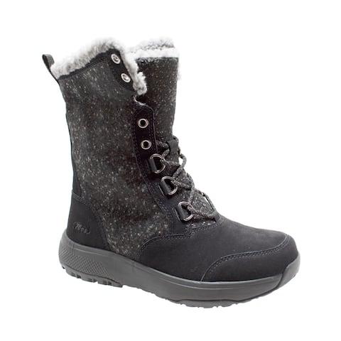 Women's Microfleece Lace Winter Boot Black