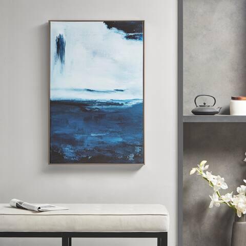 Martha Stewart Squall Blue Framed Canvas Art
