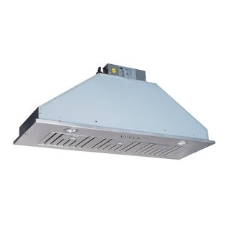 HomeBeyond 600CFM Built-In / Insert Stainless Steel Range Hood 36-inch with baffle filters 3 speed control