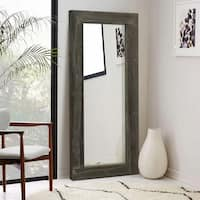 Rustic Wood Rectangular Freestanding/Full-Length/Floor Mirror Living Room - Antique Brown