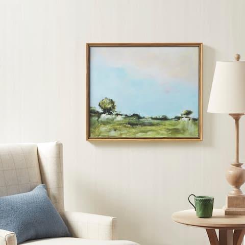 Martha Stewart Across The Plains 2 Multi Framed Gel Coated Canvas
