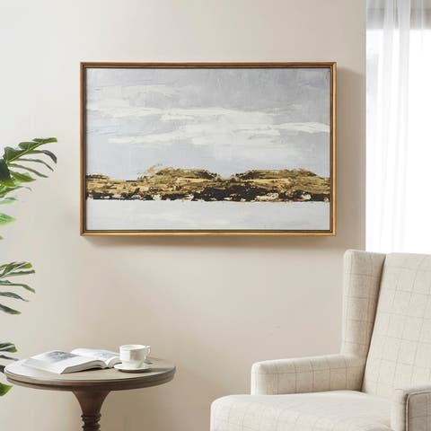 Martha Stewart Foggy Morning Multi Framed Gel Coated Canvas