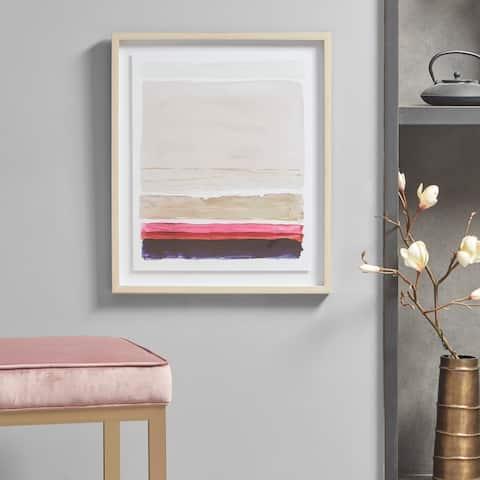 Martha Stewart Rothko's Stripes II Multi Framed Glass Wall Art Single Mat