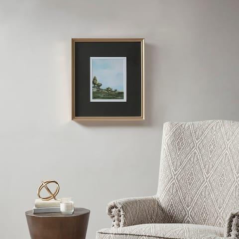Martha Stewart Across The Plains 1 Multi Framed Glass Wall Art Double Mat