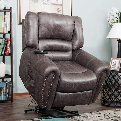 Merax Heavy-Duty Power Lift Recliner Chair with Built-in Remote and 2 Castors