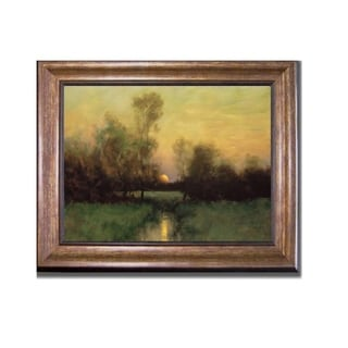 Summer Moonrise by Dennis Sheehan Bronze-Gold Framed Canvas Art (22 in x 28 in Framed Size)