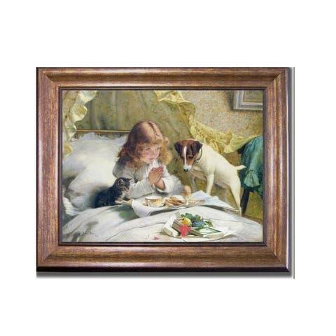 Suspense by Charles Barber Bronze-Gold Framed Canvas Art (22 in x 28 in Framed Size)