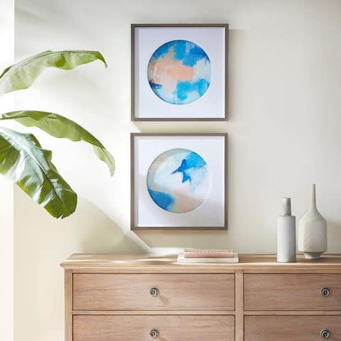 Urban Habitat Abstract Groove Multi Framed and Matted Wall Art 2 Piece Set