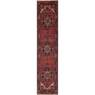 "Geometric Oriental Heriz Serapi Runner Rug Handmade Wool Carpet - 2'6"" x 10'10"" Runner"
