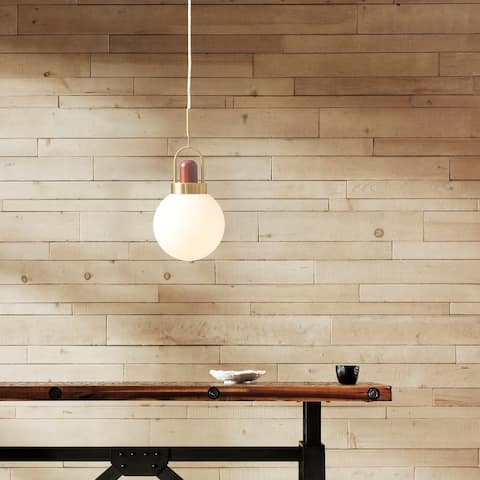 Langston Gold Glass Pendant by INK+IVY