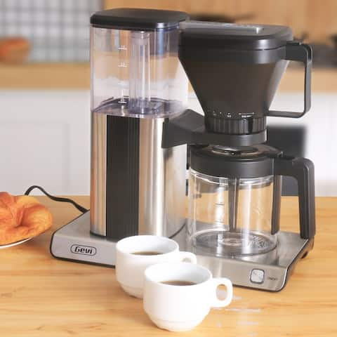 10 cup one-touch coffee machine, coffee machine with glass bottle, hot plate