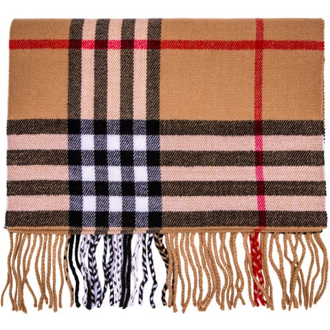 Cashmere Feel New England Plaid Scarf - 100% Acrylic - Super Soft - Large