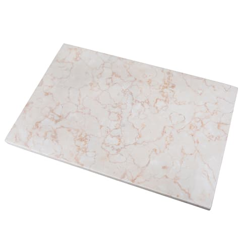 """Creative Home Champagne Marble 12"""" x 18"""" Pastry Board"""