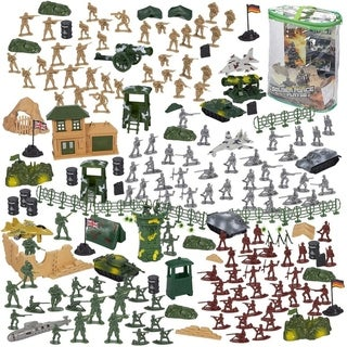 Link to 300-Piece Army Action Figures Set, Military Toy Soldier Playset Tanks, Planes Similar Items in As Is