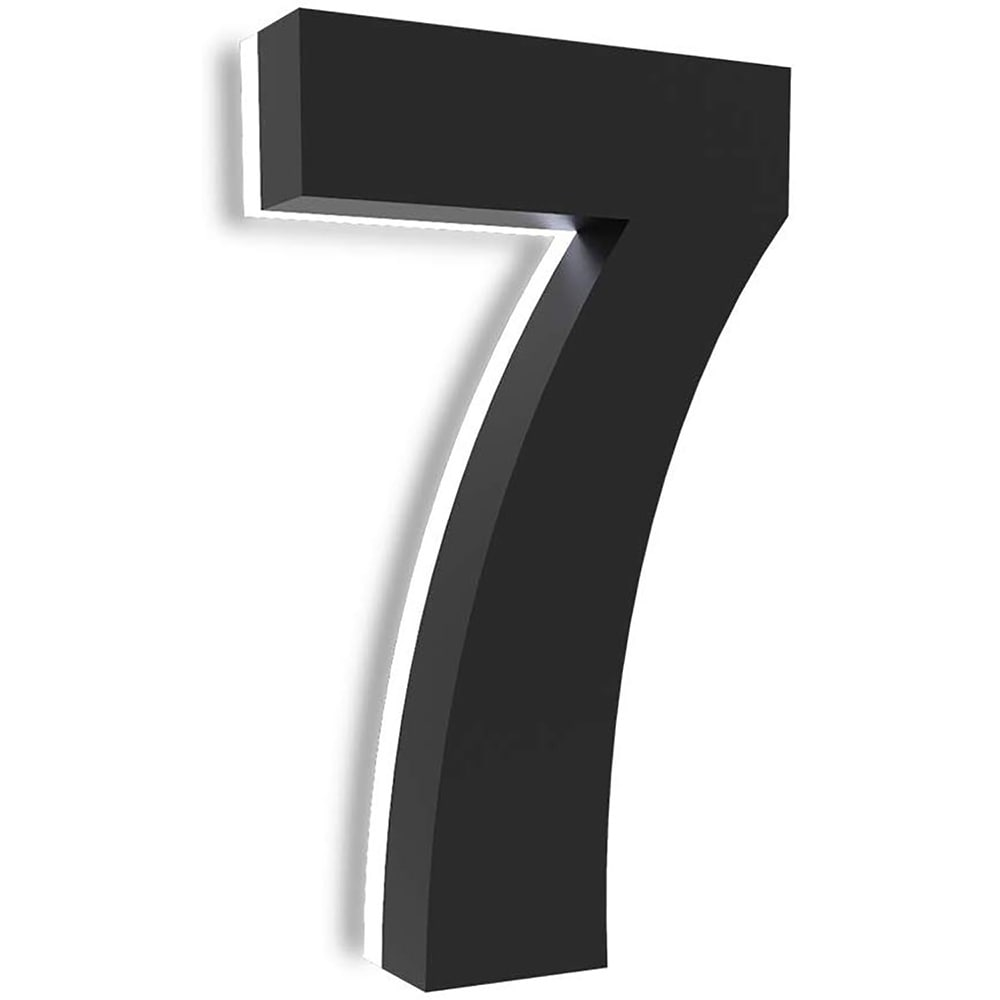 8 Inch Upscale Led Modern House Number