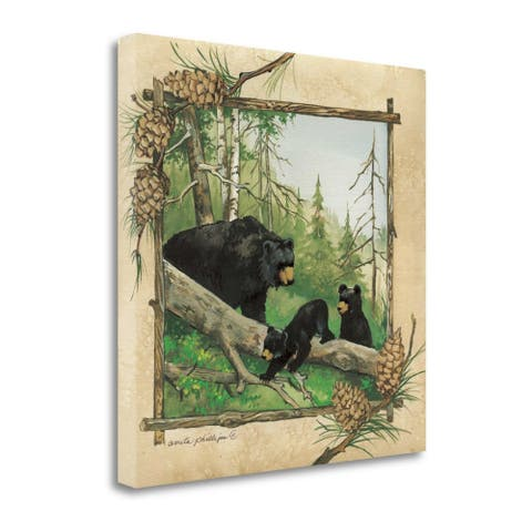"""""""Black Bears IV"""" by Anita Phillips, Fine Art Giclee Print on Gallery Wrap Canvas, Ready to Hang"""