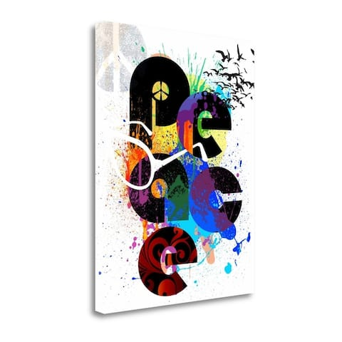"""""""Peace Love Happiness"""" by Jim Baldwin, Fine Art Giclee Print on Gallery Wrap Canvas, Ready to Hang"""