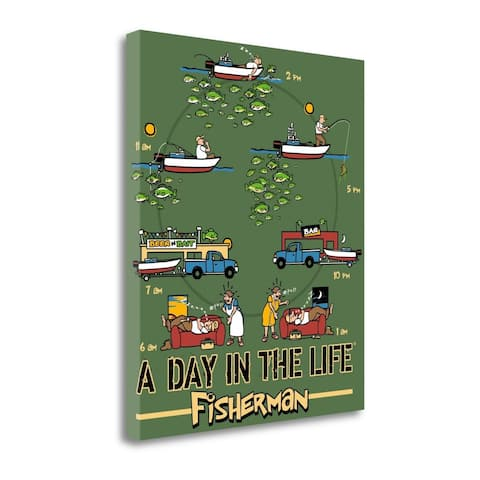 """""""Day in The Life Fishing"""" by Jim Baldwin, Giclee Print on Gallery Wrap Canvas"""