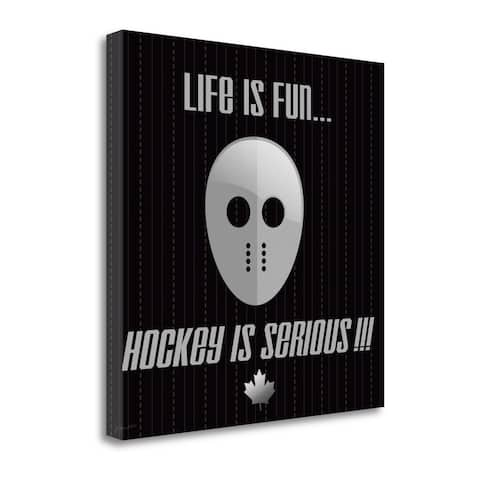 """""""Hockey Is Serious"""" by Jo Moulton, Fine Art Giclee Print on Gallery Wrap Canvas, Ready to Hang"""