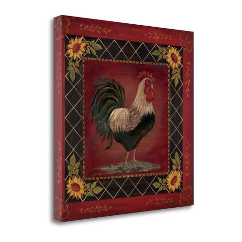 """""""Sunflower Rooster I"""" by Jo Moulton, Fine Art Giclee Print on Gallery Wrap Canvas, Ready to Hang"""