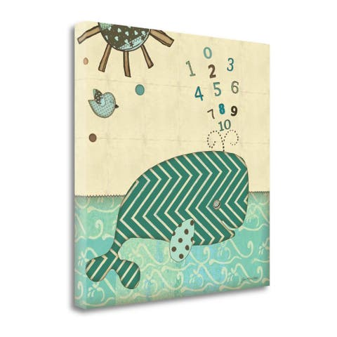 """""""Number Whale"""" by Jo Moulton, Fine Art Giclee Print on Gallery Wrap Canvas, Ready to Hang"""