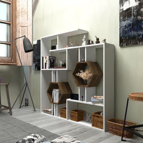 Decorotika Tamara 53'' Tall Accent Geometric Honeycomb Bookcase