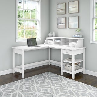 Broadview 60W L Shaped Computer Desk with Organizer by Bush Furniture