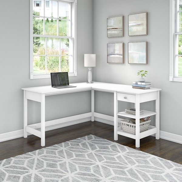 Broadview 60W L Shaped Computer Desk with Storage by Bush Furniture