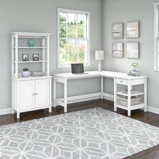 Copper Grove Altona 60-inch L-shaped Desk with Storage Cabinet and Hutch