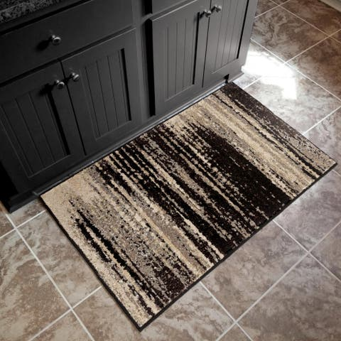 "Orian American Heritage Interference Black Accent Rug (1'8"" x 2'10"") - 1'8"" x 2'10"""
