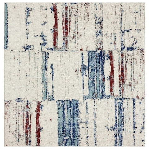 Luxe Weavers Abstract Ivory Multi Colored Area Rug