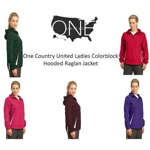 One Country United Ladie's Colorblock Hooded Raglan Jacket