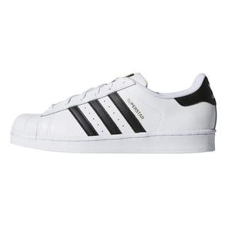 adidas Originals Womens Superstar Sneaker - Black/White - Size 8