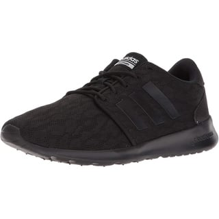 adidas Womens CF QT Racer W Sneaker - Core Black/Core Black/White - 8.5