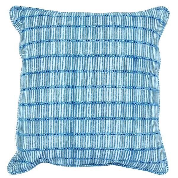 Kosas Home Andi Block Printed 100% Cotton 22-inch Throw Pillow