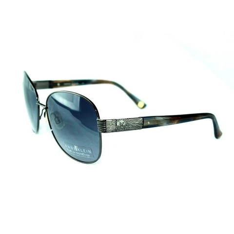 Anne Klein Gunmetal Women's Fashion Sunglasses - Medium